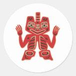 Haida Blanket Design Stickers
