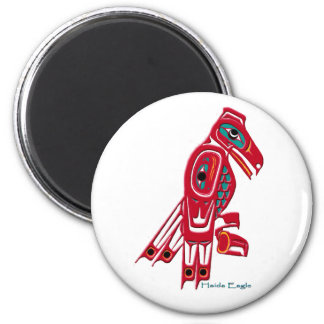 HAIDA EAGLE Collection 2 Inch Round Magnet