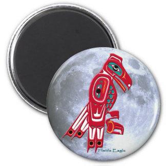 HAIDA EAGLE & FULL MOON Native American Art Magnet