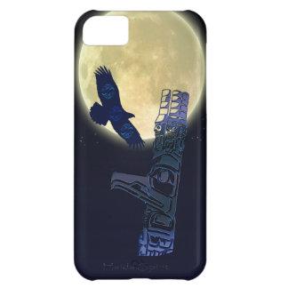Haida Eagle, Full Moon & Totem Pole Native Art Cover For iPhone 5C