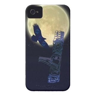 Haida Eagle, Full Moon & Totem Pole Native Art iPhone 4 Cover