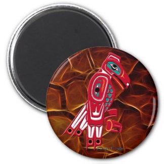 HAIDA EAGLE & Orange Fractal Native Art Magnet
