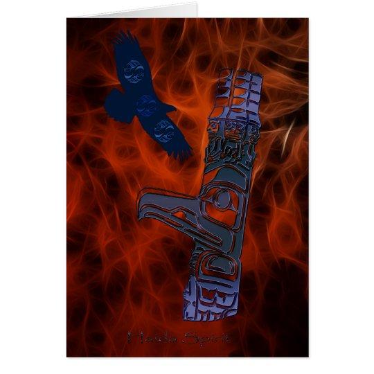 Haida Eagle & Totem Pole Art Series Card