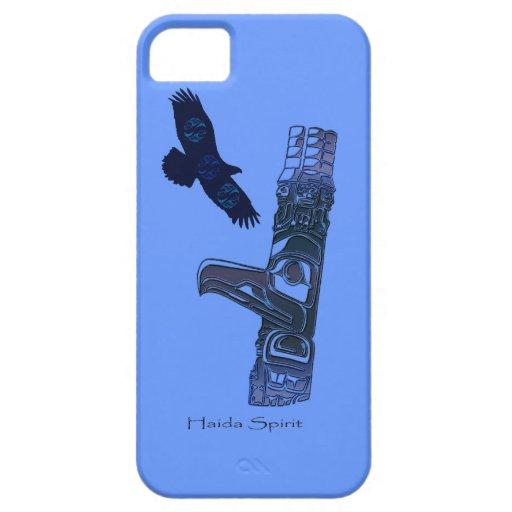 Haida Eagle y arte del natural del tótem iPhone 5 Protectores