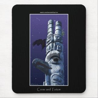 Haida First Nation Totem Pole & Crow Mousepad