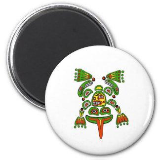Haida frog 2 inch round magnet