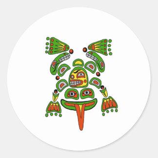 Haida frog classic round sticker