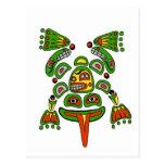 Haida frog post card