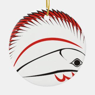 haida hog ceramic ornament