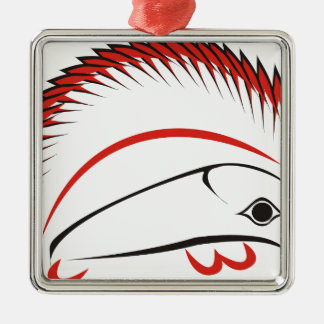 haida hog metal ornament