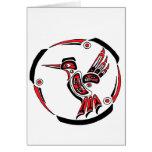 Haida Hummingbird Greeting Card