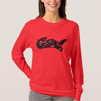 Haida Illustration of Mother Otter & Baby Design T-Shirt