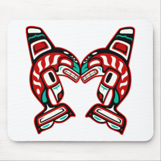 Haida Indian Killer Whales Orca Mouse Pad