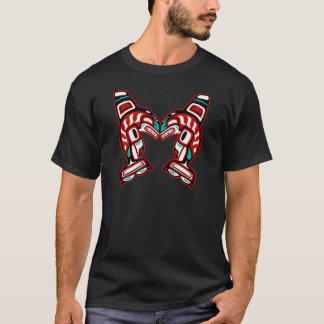 Haida Indian Killer Whales Orca T-Shirt