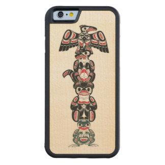 Haida Indian Totem Design Carved Maple iPhone 6 Bumper Case