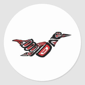 Haida Loon Classic Round Sticker