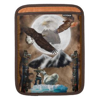 Haida Native American Animal Totems iPad Sleeve