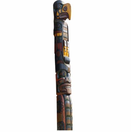 Haida Native American Totem Pole sculpted Gift Statuette