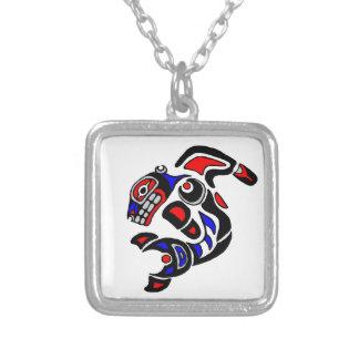 Haida Orca  2014 Square Pendant Necklace