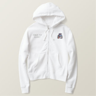HAIDA orca ,Save the Planet Embroidered Hoodie