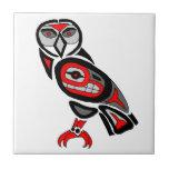 Haida Owl 2014 Small Square Tile
