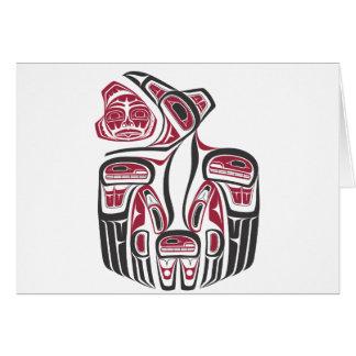 Haida Raven Design Card