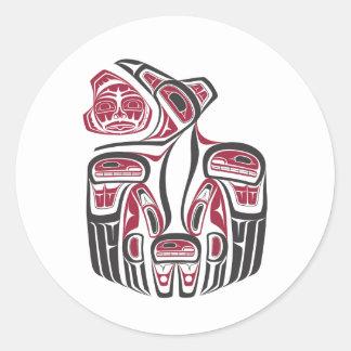 Haida Raven Design Classic Round Sticker