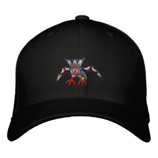 Haida Raven Fly away Embroidered Baseball Hat