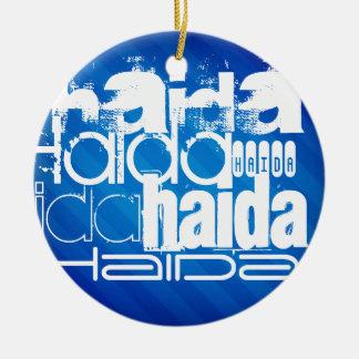 Haida; Rayas azules reales Adorno De Navidad