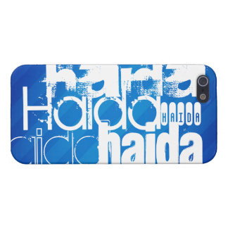 Haida; Royal Blue Stripes Cover For iPhone 5