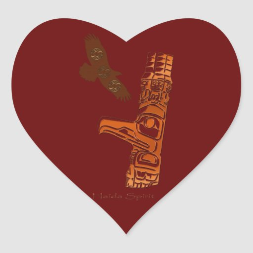 HAIDA SPIRIT Eagle & Totem Pole Art Stickers