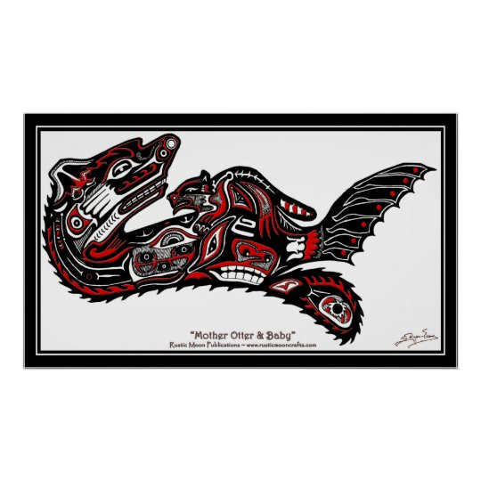 """HAIDA SPIRIT"" First Nations-style Otter Art Print"