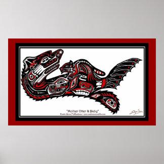 HAIDA SPIRIT Otter Larger version Art Print