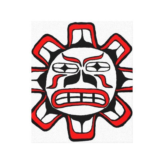 Haida Sun Canvas Print