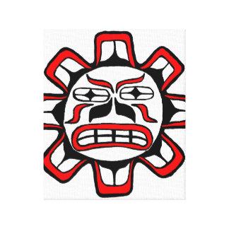 Haida Sun Impresiones En Lienzo Estiradas