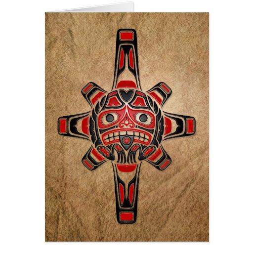 Haida Sun Mask Greeting Card