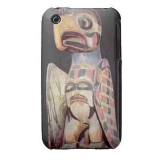 Haida 'Thunderbird' statue (painted wood) Case-Mate iPhone 3 Cases