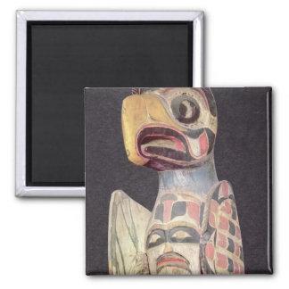 Haida 'Thunderbird' statue (painted wood) Magnet