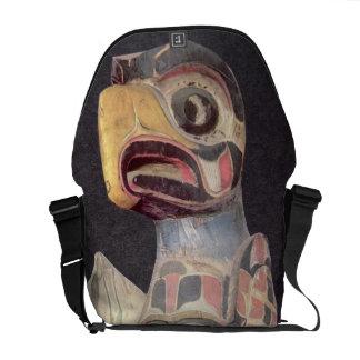 Haida 'Thunderbird' statue (painted wood) Messenger Bag