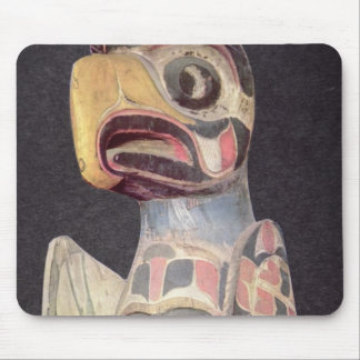 Haida 'Thunderbird' statue (painted wood) Mouse Pads