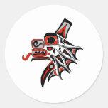 Haida Wolf 2012 Round Sticker