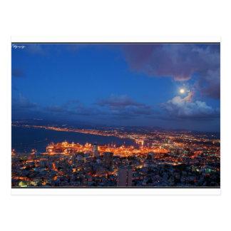 Haifa night postcard
