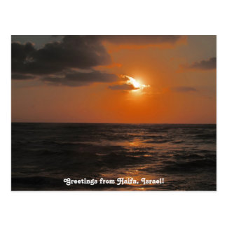 Haifa Sunset Postcard
