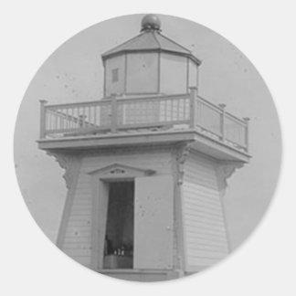Haig Point Range Lighthouse Classic Round Sticker