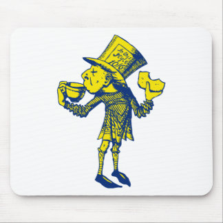 Haigha (Mad Hatter) Inked Blue Yellow Mouse Pad