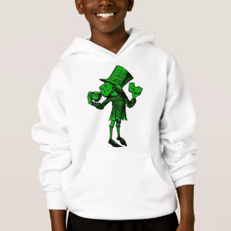 Haigha (Mad Hatter) Inked Green Fill Hoodie