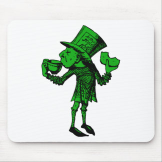 Haigha (Mad Hatter) Inked Green Fill Mouse Pad
