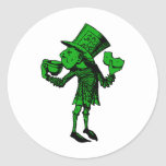 Haigha (Mad Hatter) Inked Green Fill Classic Round Sticker