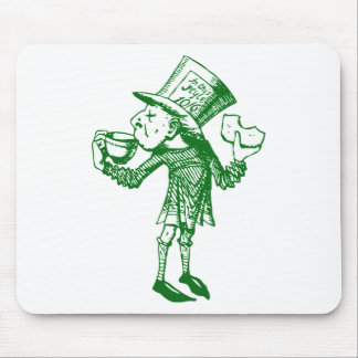 Haigha (Mad Hatter) Inked Green Mouse Pad