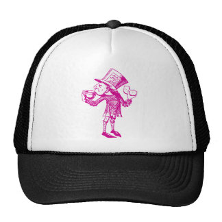 Haigha (Mad Hatter) Inked Pink Trucker Hat